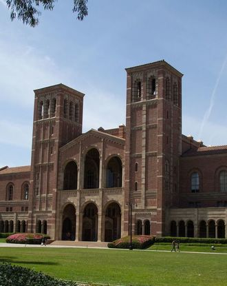 Front view of UCLA in the daytime