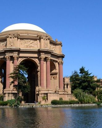 Palace of Fine Arts in the Presidio area of San Francisco, CA