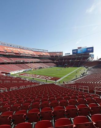 Inside an empty Levi's Stadium