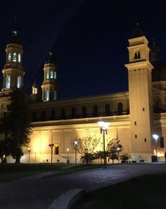 St. Ignatius Church USF campus at night