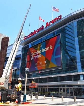 Architectural photography of Scotiabank Arena