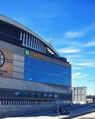 View of TD Garden by the highway