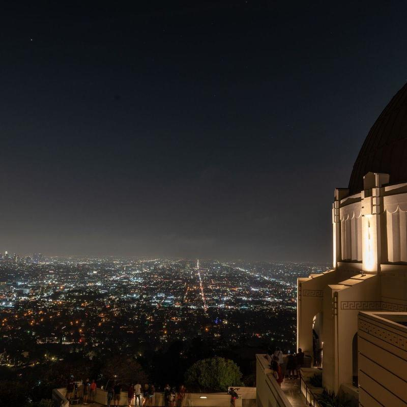 Night view of the Griffith Observatory