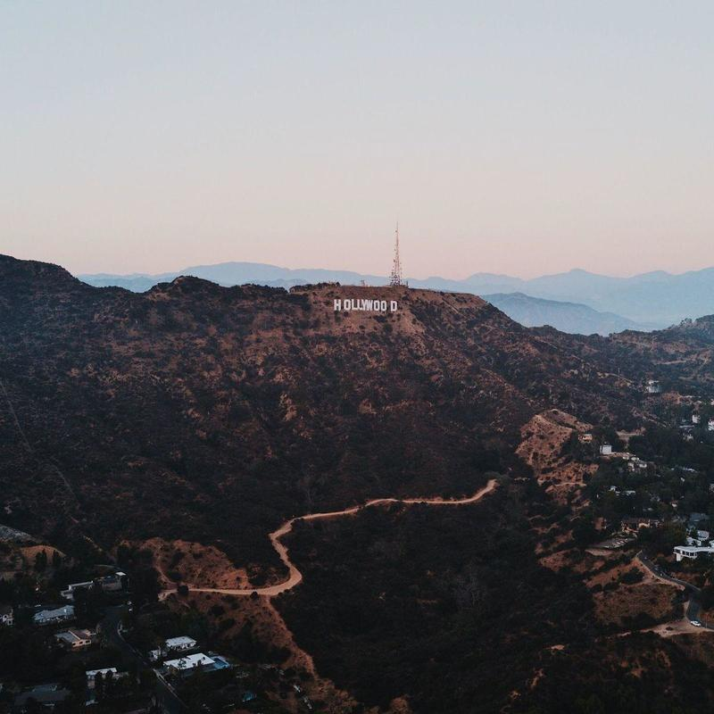 Landscape photography of mountain with Hollywood Sign