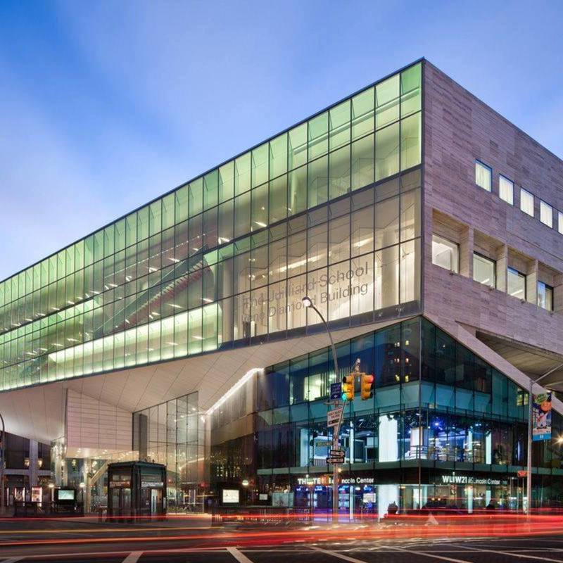 Front view of The Juilliard School
