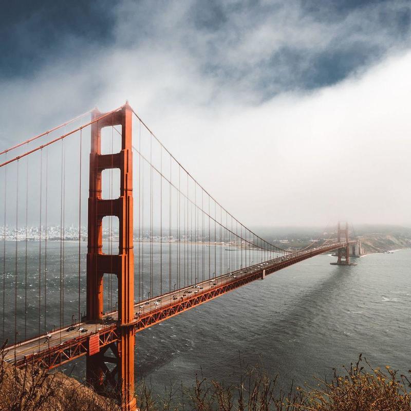 Clouds over Golden Gate Bridge