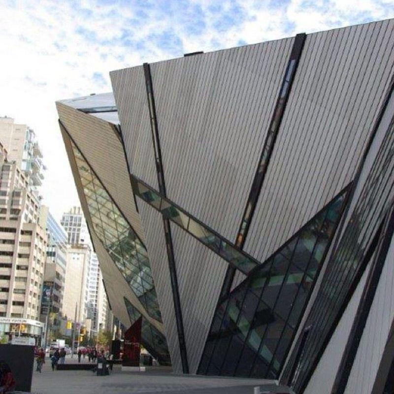 View of the Royal Ontario Museum building