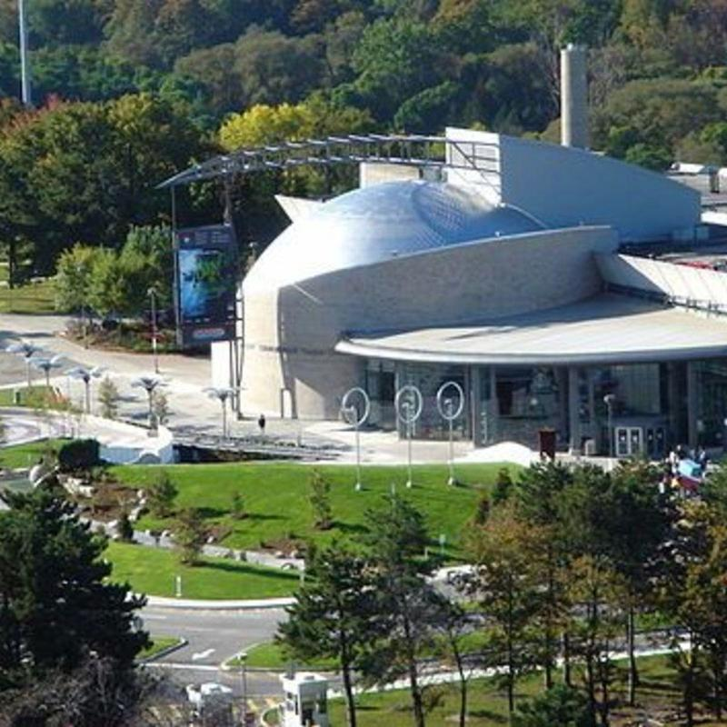 Aerial view of Ontario Science Centre