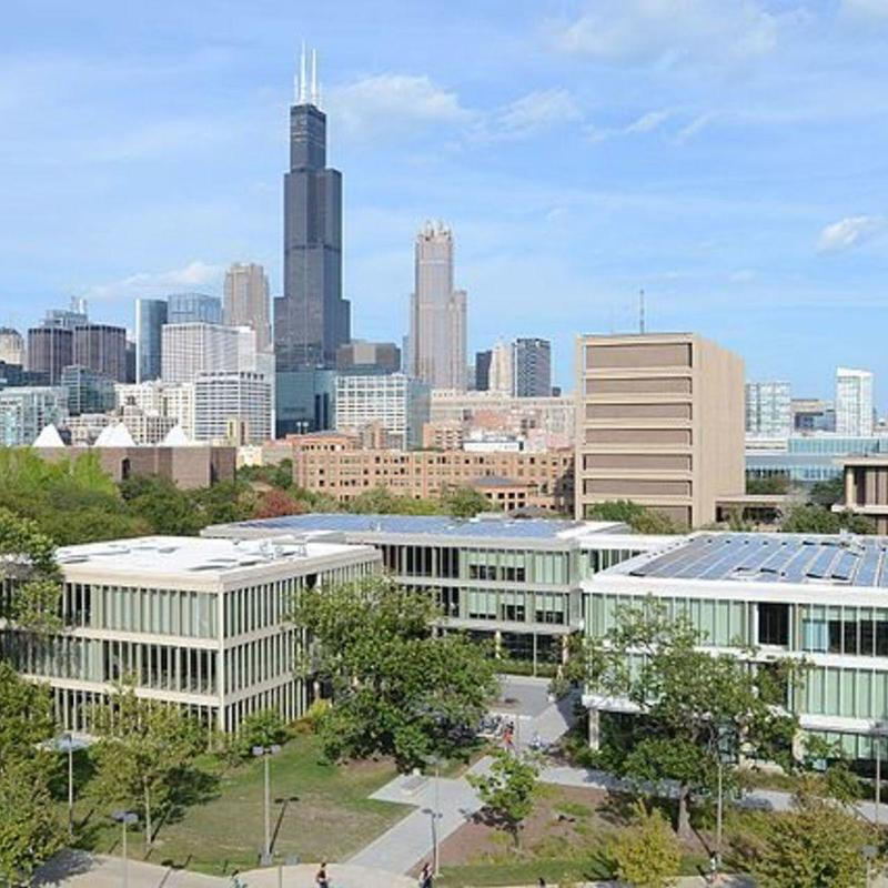 Aerial view of the University of Illinois at Chicago