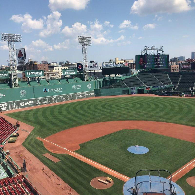 Deserted Fenway Park during the day
