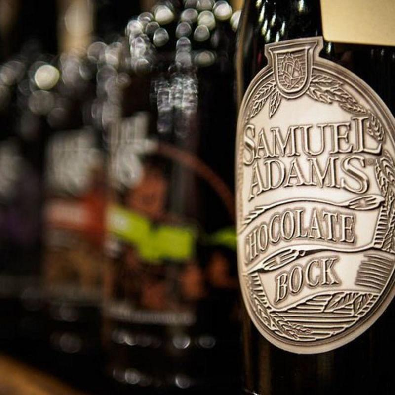 Chocolate Bock beer bottle from Samuel Adams Brewery
