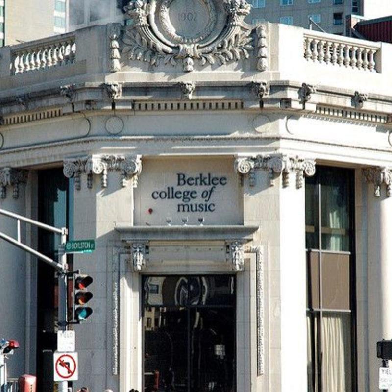 Closeup of Berklee College of Music sign