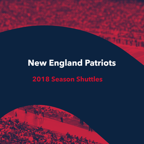 Poster, Shuttle to Gillette Stadium I NFL 2018/19 New England Patriots Games